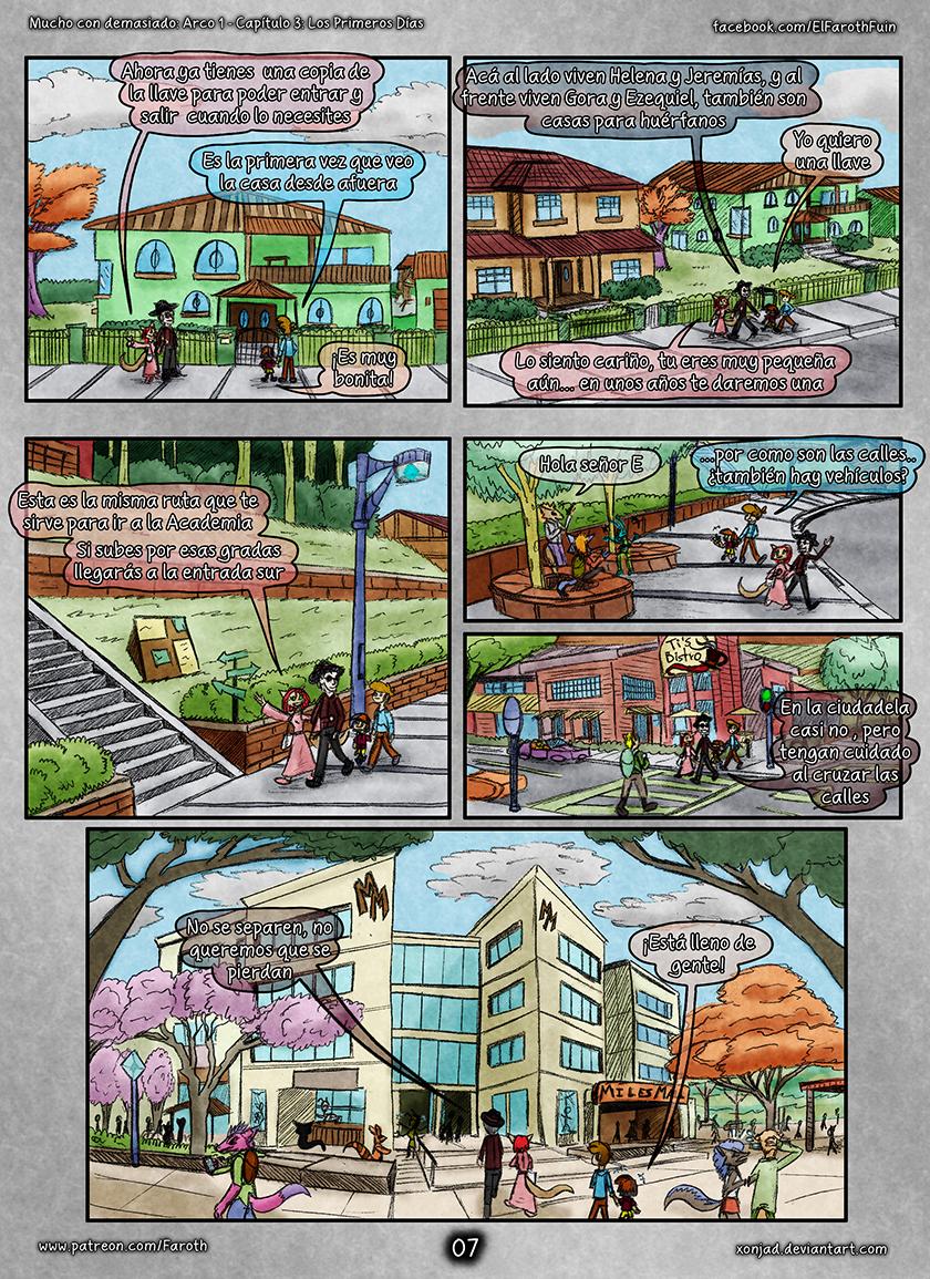 Cap 3 - Pag 7: Saliendo de la casa
